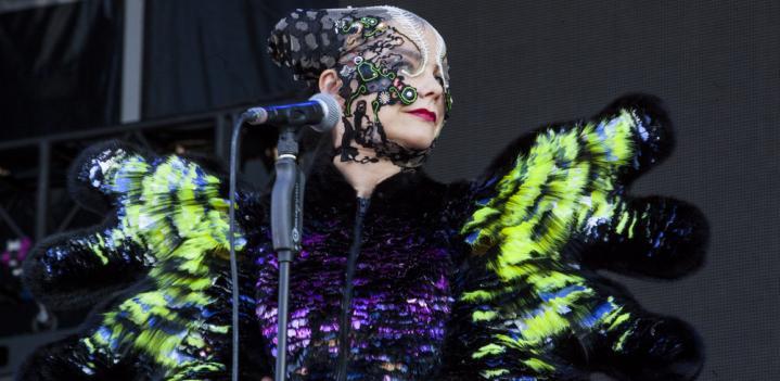 Bjork wears Nikoline Liv Andersen's Remix Award Winning Dress in Concert