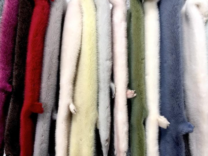 Colourful Fur Pelts for Fur Summer SChool Greece