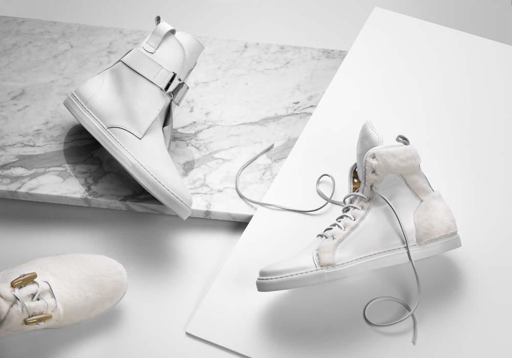 Kopenhagen Fur White Mink Sneakers