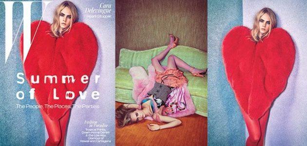 Cara Delevigne W Magazine, International Fur Federation