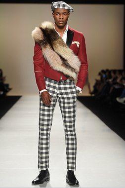 Farley Chatto Menswear models Fur