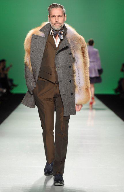 Farley Chatto Menswear models fur style