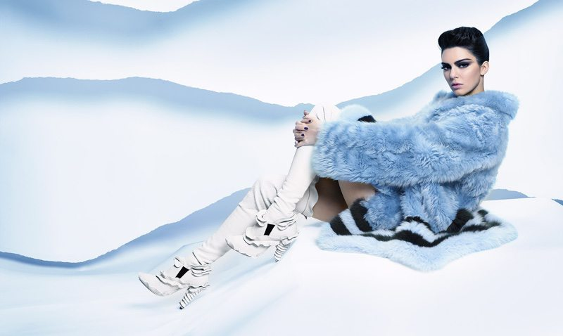 Kendall Jenner Karl Lagerfeld Ice Princess Ad Campaign Fendi FW 2016