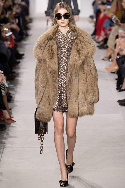 Michael Kors Women Fur Coat Fox