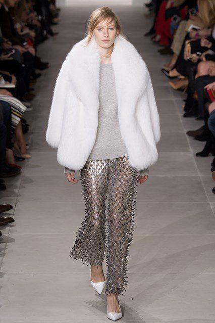 Michael Kors White Fur Coat Women