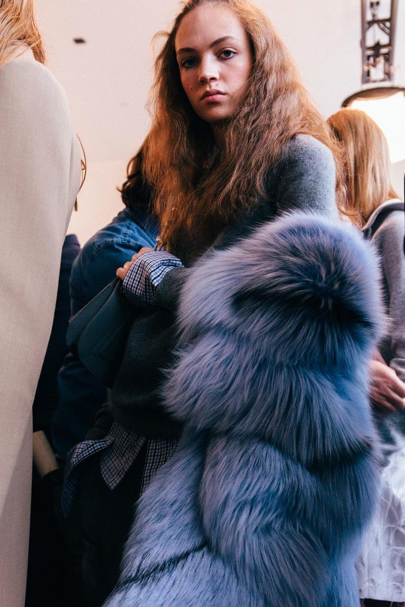 Michael Kors Purple fur coat