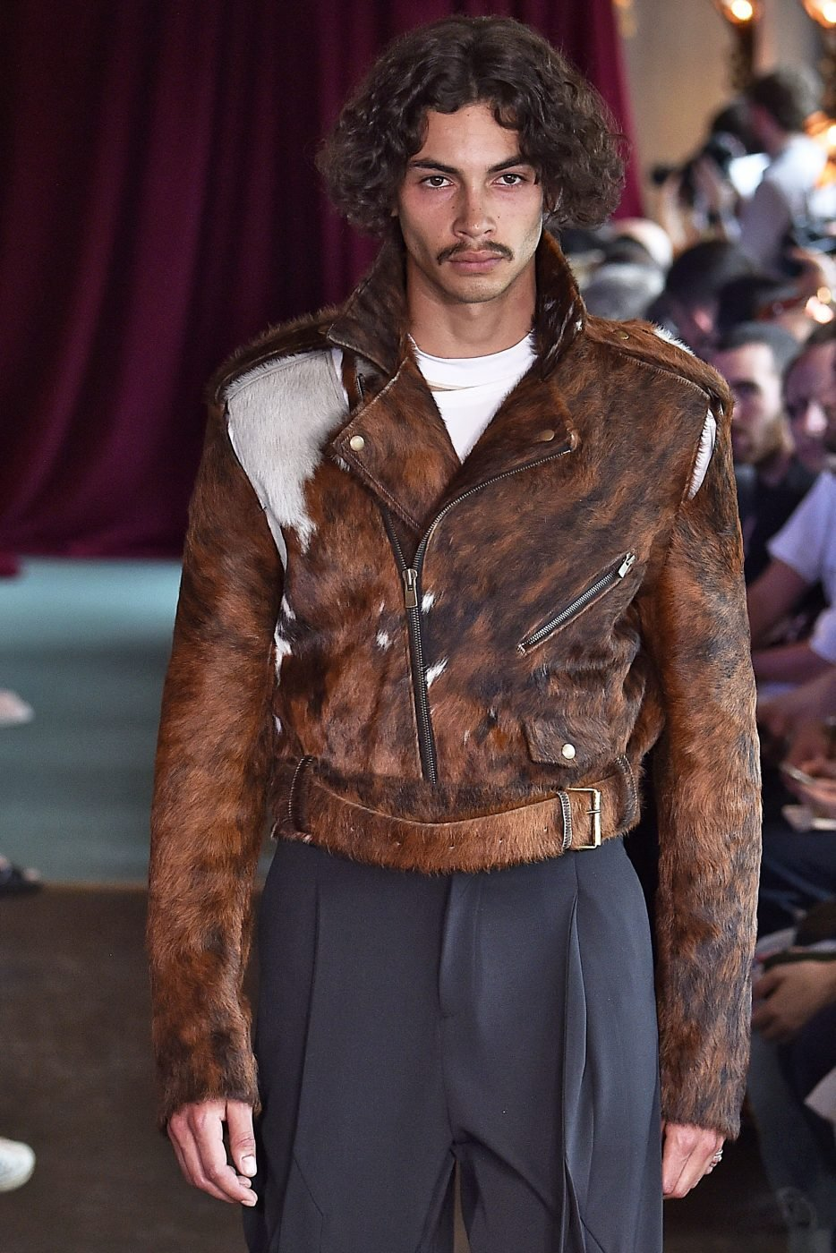 Y/Project Glenn Marten Cow skin Fur Coat Menswear SS17
