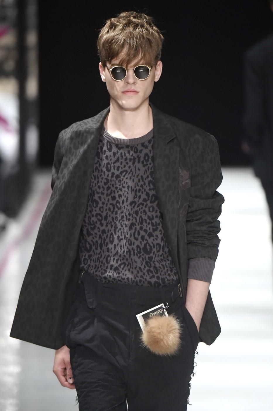 Robert Geller Menswear SS 2017 Fur Pom Pom