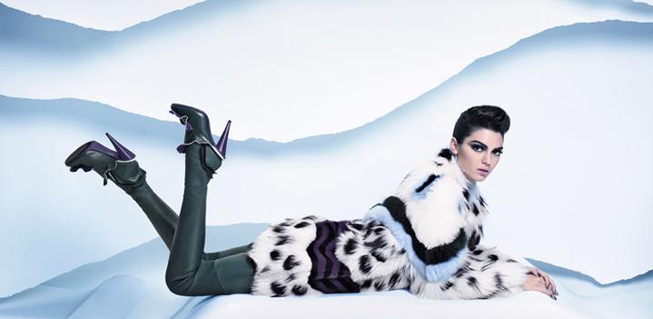 Kendall Jenner in Fendi Fur Ad
