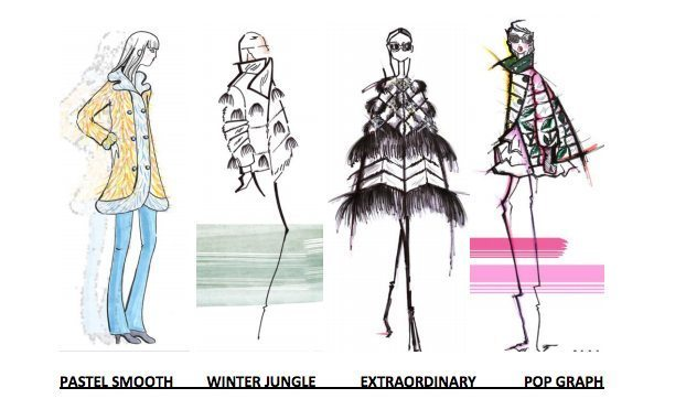 MiFur sketches of catwalk themes and designs