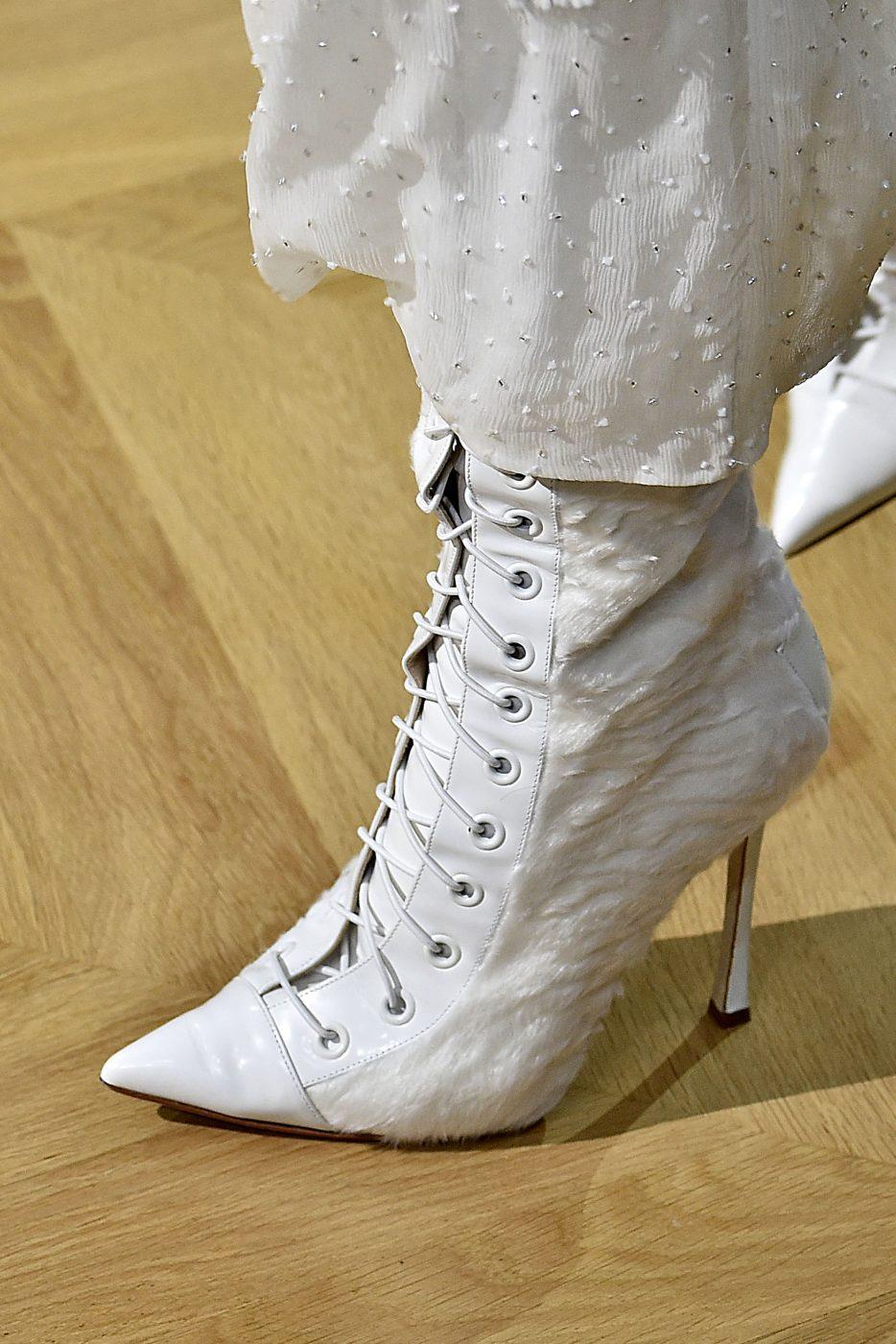 J Mendel Fur High Heel Shoes Haute Couture Fall Winter 2016