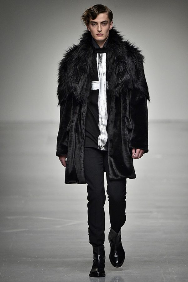 Songzio London Menswear Fall Winter 2017, fur