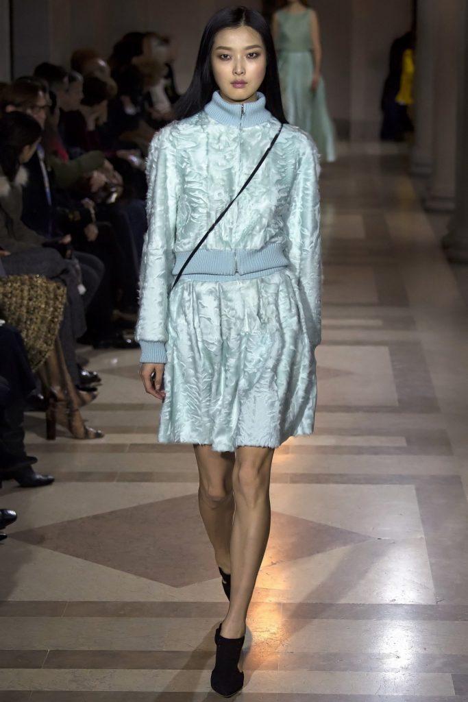 Carolina Herrera NYFW Fur
