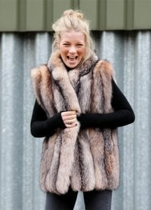 Crystal Gilet, Fox Fur, Bewitched, Ninx