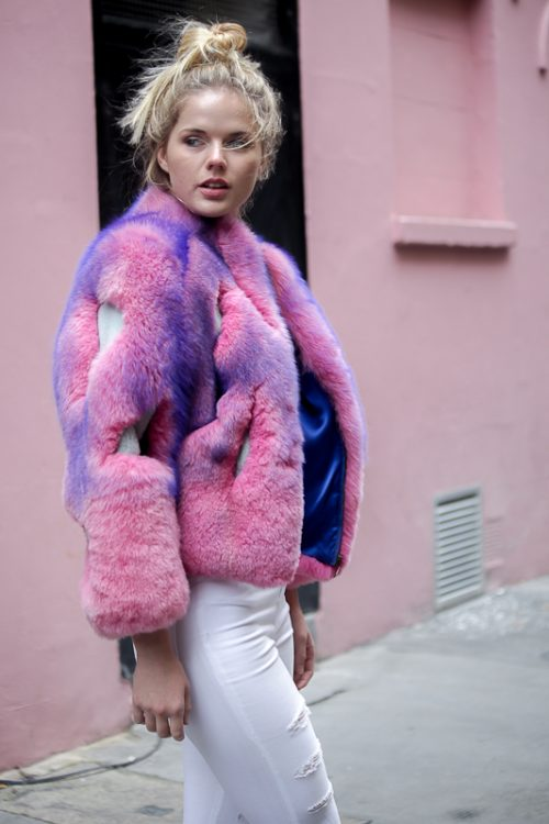 "<strong>Multicolour Jacket <a href=""https://www.instagram.com/liskafashion/"">@liska</a><br/><a href=""https://www.farfetch.com/shopping/women/liska/coats-1/items.aspx"">Shop the fur style here</a><br /> White Fur Top <a href=""https://www.instagram.com/djangobydjango/"">@djangobydjango</a><br / > <a href=""https://www.djangobydjango.com/"">Shop the fur style here</a></strong> Django, Liska"