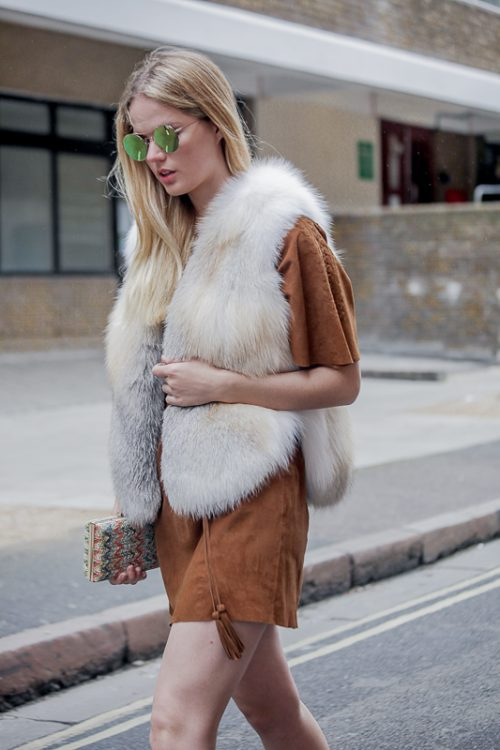 """<strong>Gia Vest<br  /> <a href=""""https://www.instagram.com/rachelzeitlin/"""">@rachelzeitlin </a><br /><a href=""""https://rachelzeitlin.com/collections/all"""">Shop the fur style here</a></strong> Rachel Z"""