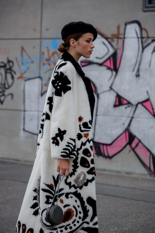 "<strong>Intarsia Mink Coat<br /><a href=""https://www.instagram.com/yves_salomon/"">@yves_salomon</a><br /> <a href=""http://www.yves-salomon.fr/en/"">Shop the fur style here</a></strong> Yves Salomon"