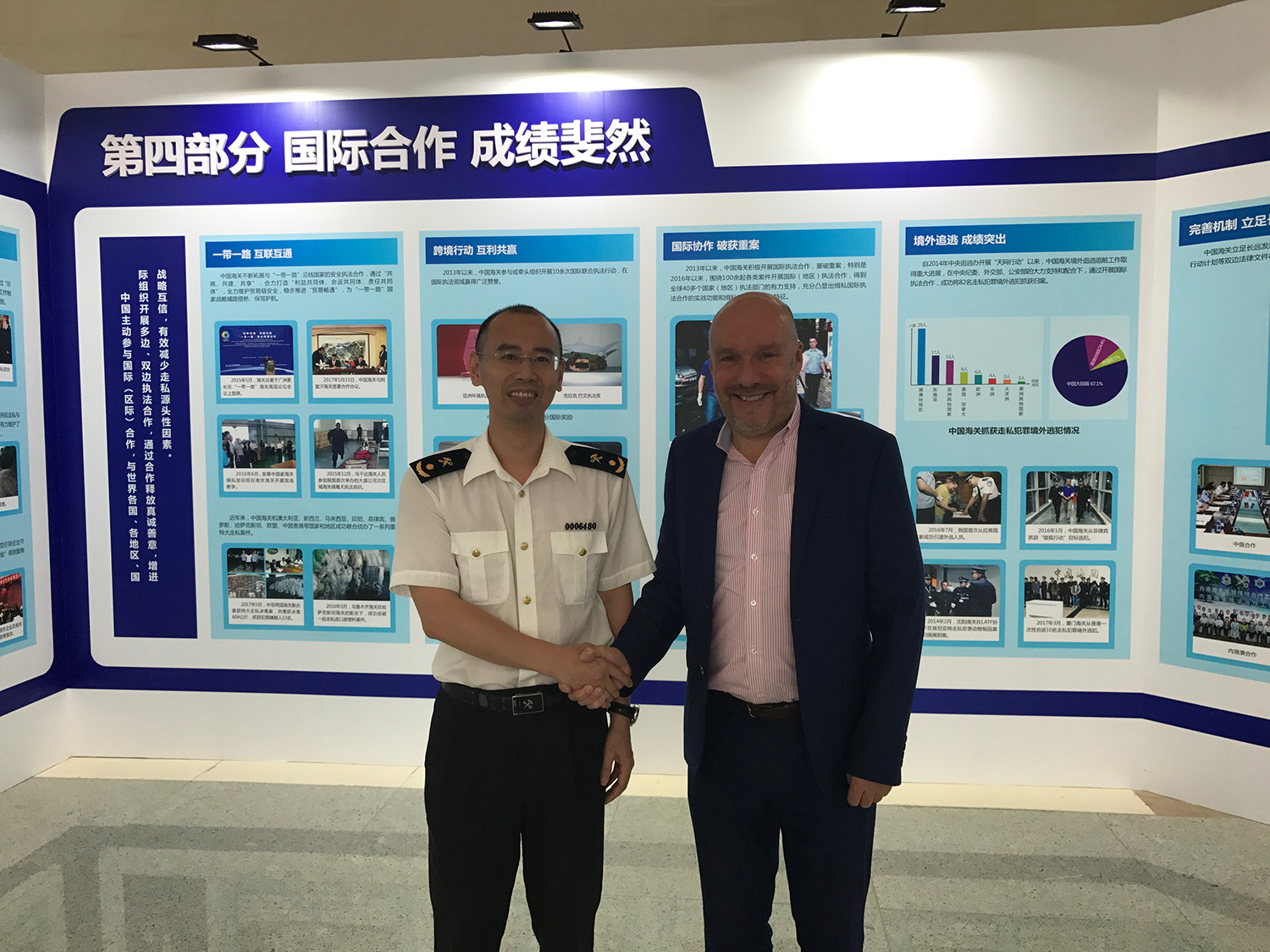 Mr. Zheng of China Customs and Mark Oaten of IFF CEO