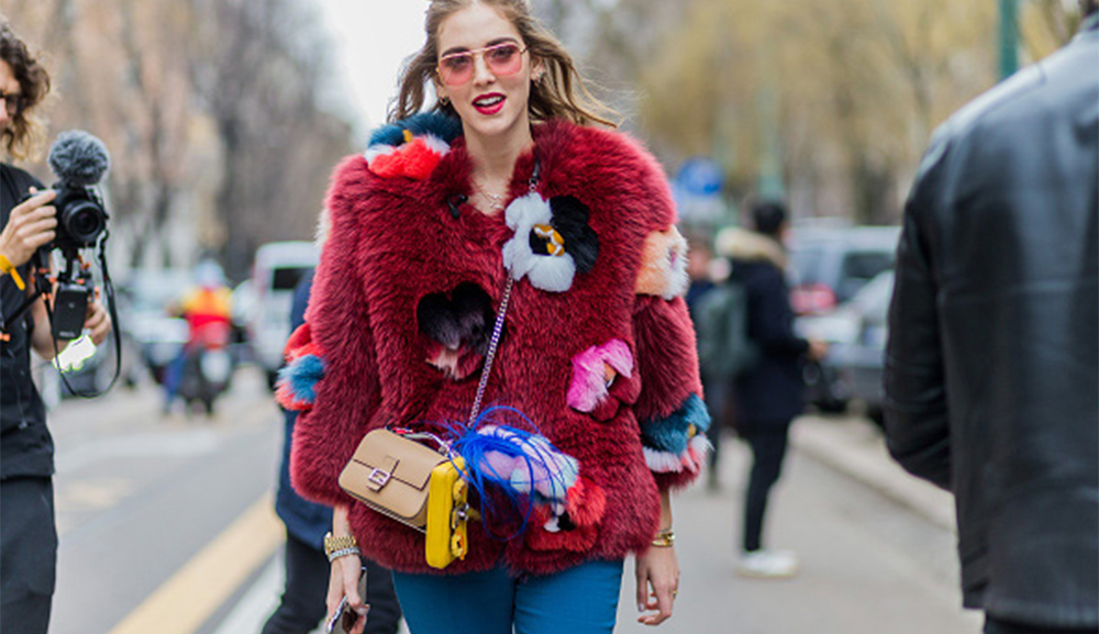 Chiari Ferragni Fendi Fashion Week