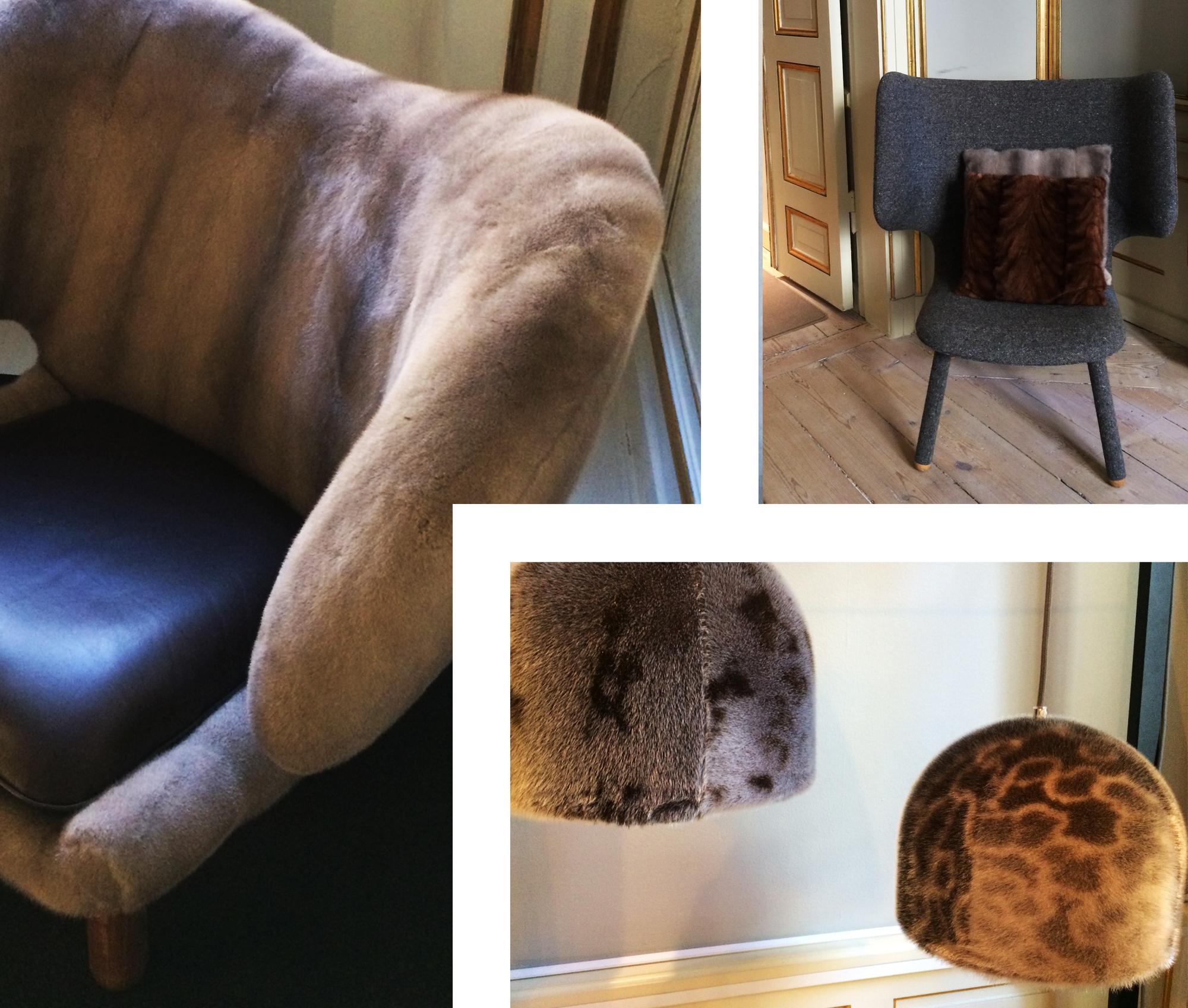 Kopenhagen Fur Studio, mink, seal, Copenhagen, interiors, fur, mink