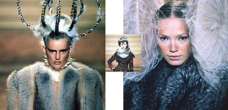 Alexander McQueen, catwalk, fox fur,haute couture, Paris, London, AW97