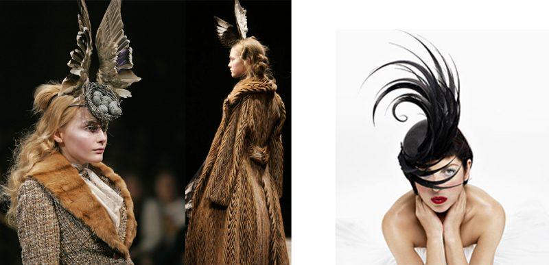 Alexander McQueen, catwalk, mink fur,haute couture, London, 2008