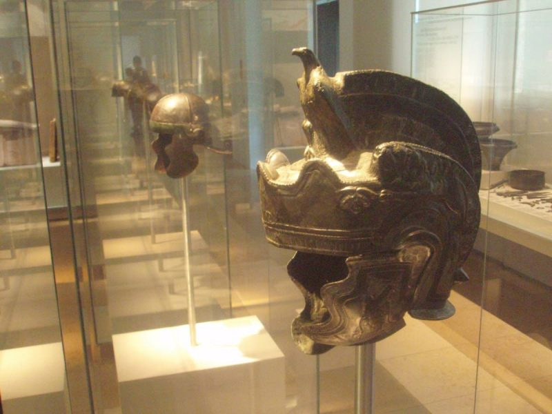 Ancient Rome Galea (helmet) featuring fur.
