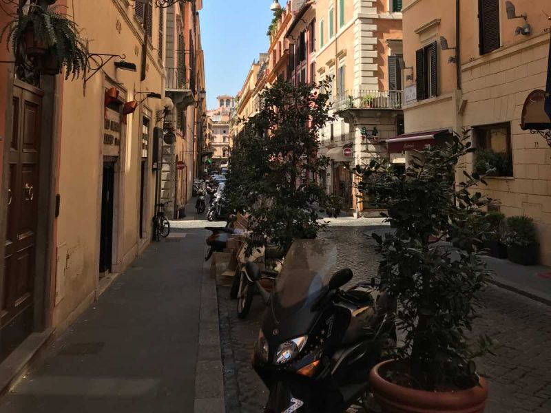 Beautiful street in Rome.