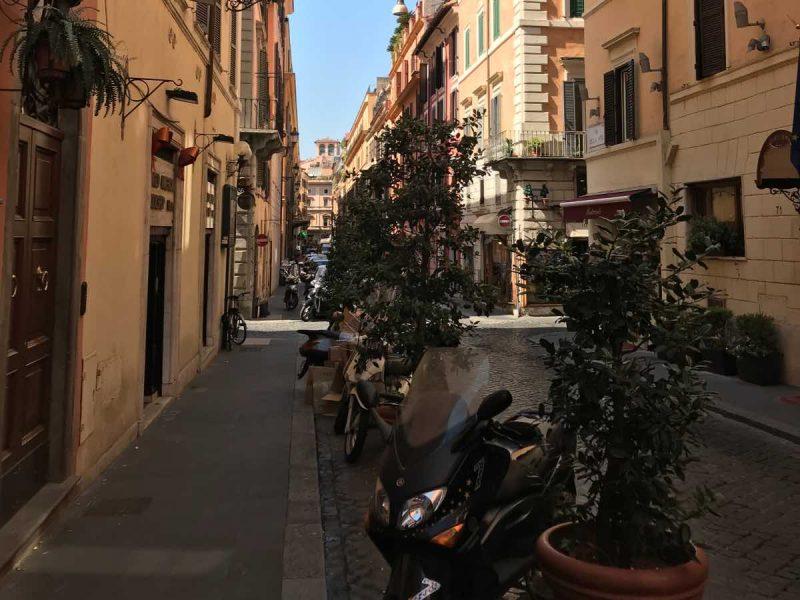 Beautiful street in Rome.