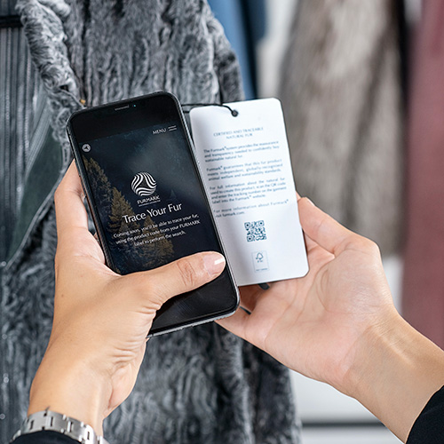 Furmarks new, QR-coded swing tags, which map the history of a fur garment,